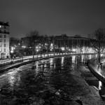 Il gèle sur le canal Saint Martin