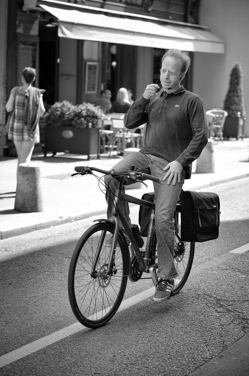 Le cycliste détendu