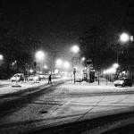La nuit sous la neige
