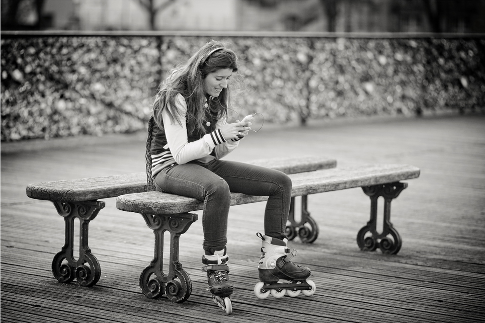 La patineuse lisait des messages secrets