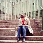 Ecrire sur les marches