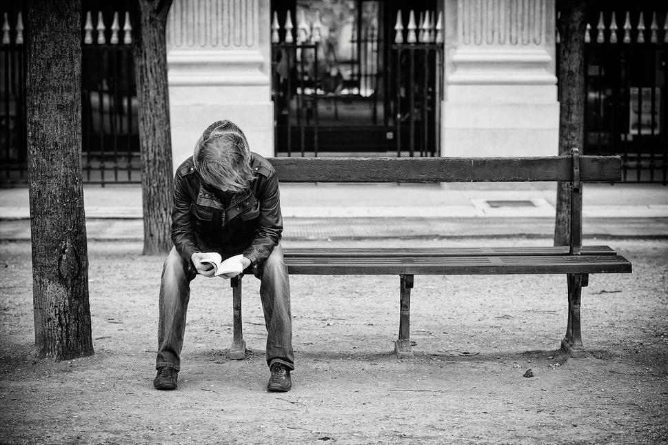 Le lecteur sur le banc
