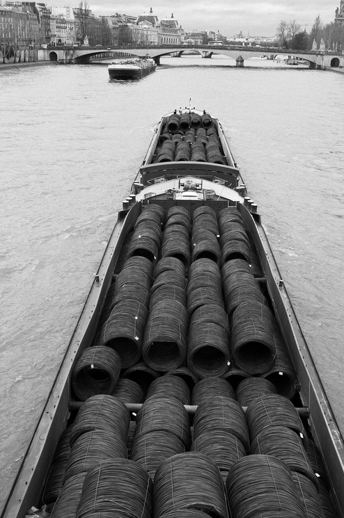 Transport fluvial : Les rouleaux de cables