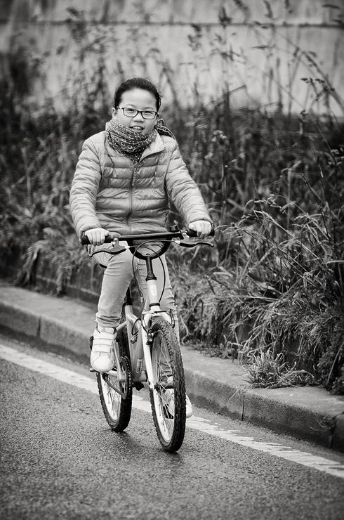 A bicyclette on s'amuse bien
