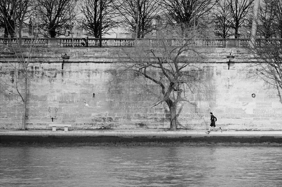 Courir en bord de Seine