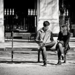 Toi et moi sur un banc public