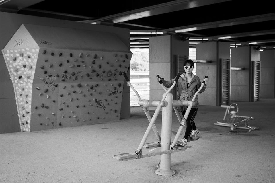 La salle de gym en plein air