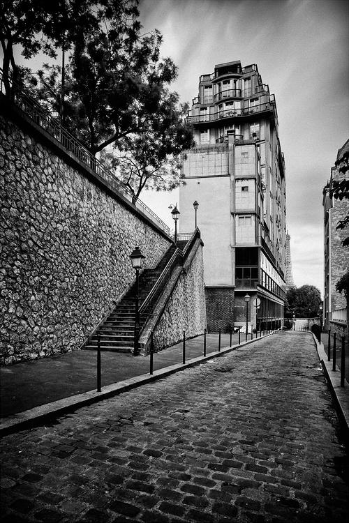 L'escalier de la rue Berton