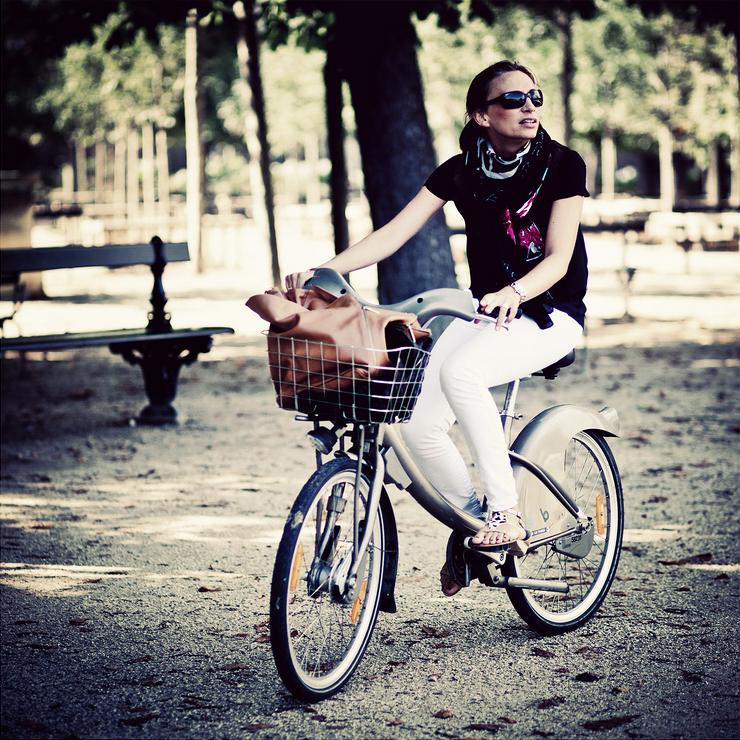 Lucie et son vélib