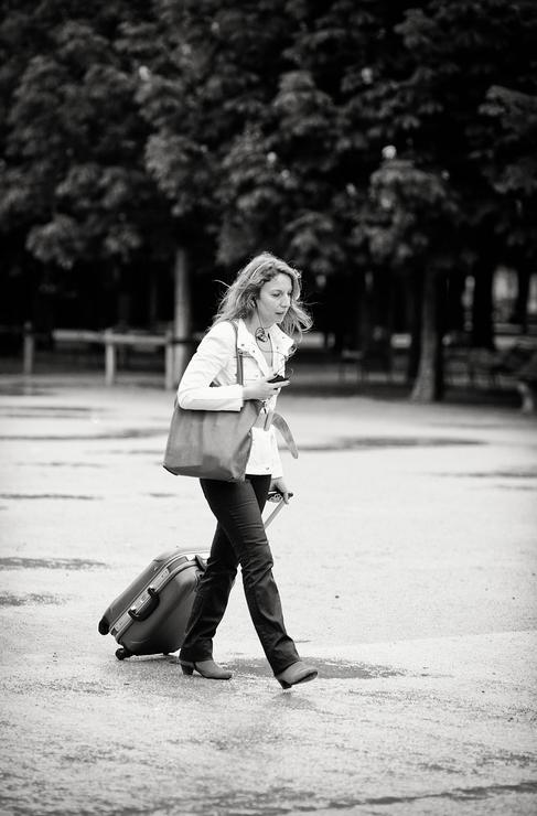 La femme à la valise