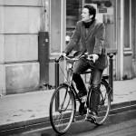 Le reflet du cycliste