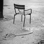 Une chaise en hiver
