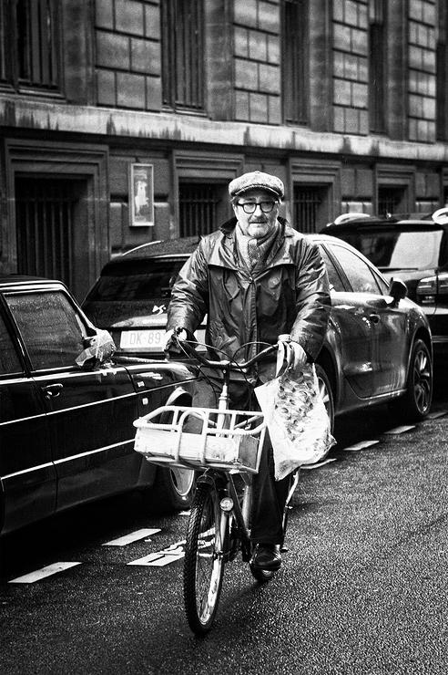 René et son vélo