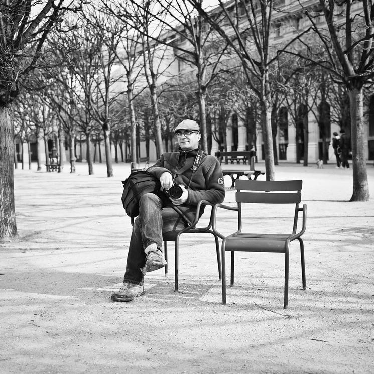 La sérénité du photographe de rue