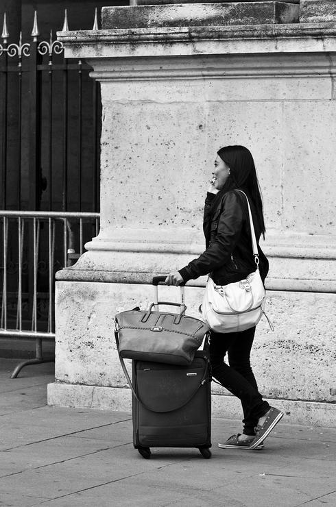 L'arrivée au Louvre