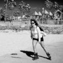 Roller Blade sur la plage