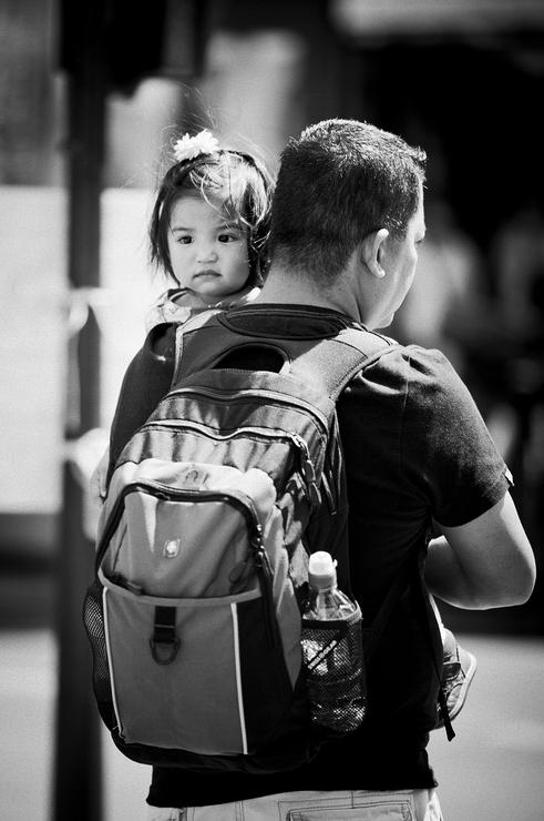 Le papa et sa petite