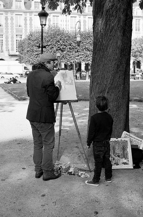 Dis papa, dessine moi la place des Vosges
