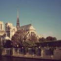 Le soleil donne sur Notre-Dame