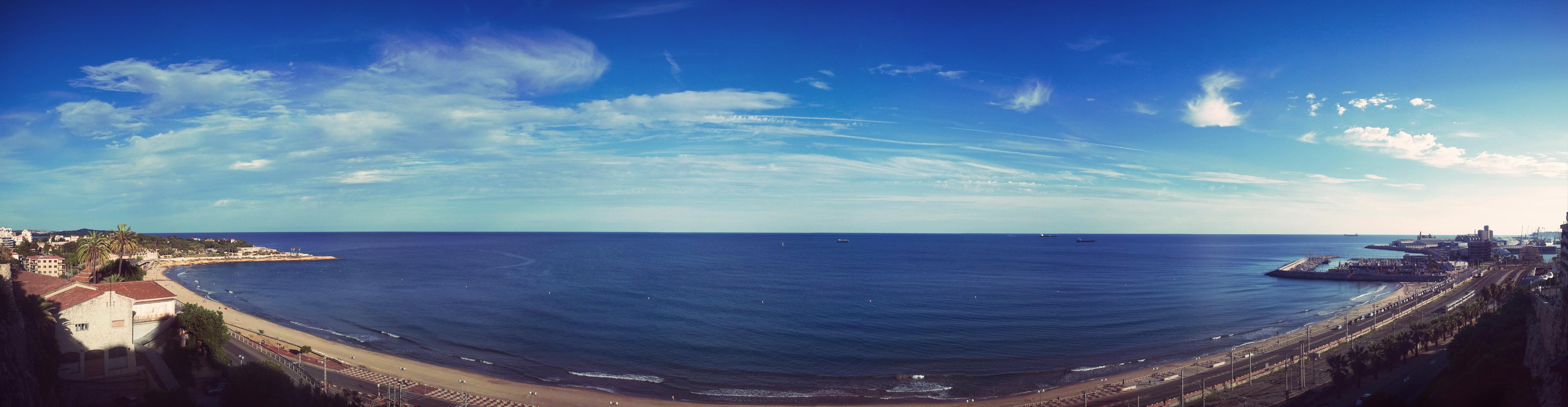 Tarragone - Panorama de la mer méditerranée