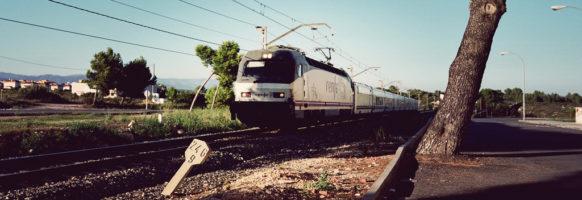 Train de voyageur en Espagne