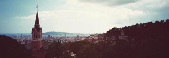Barcelone depuis le parc Güell – Maison de Gaudi