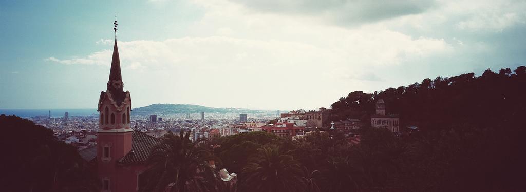 Barcelone depuis le parc Güell - Maison de Gaudi