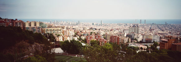 Barcelone depuis le parc Güell