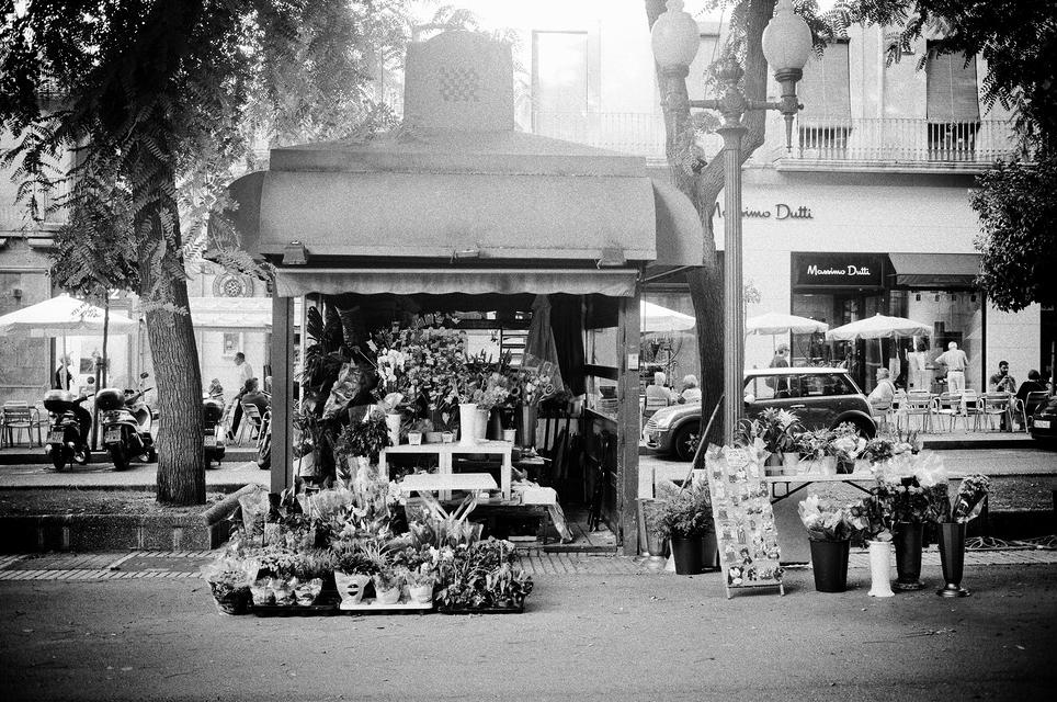 Kiosque de fleurs