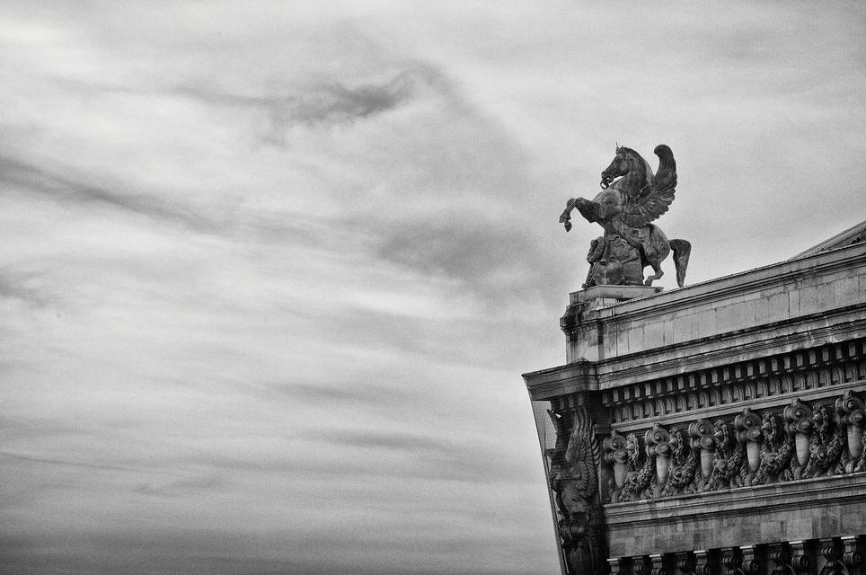 Sur le toit de l'opéra Garnier