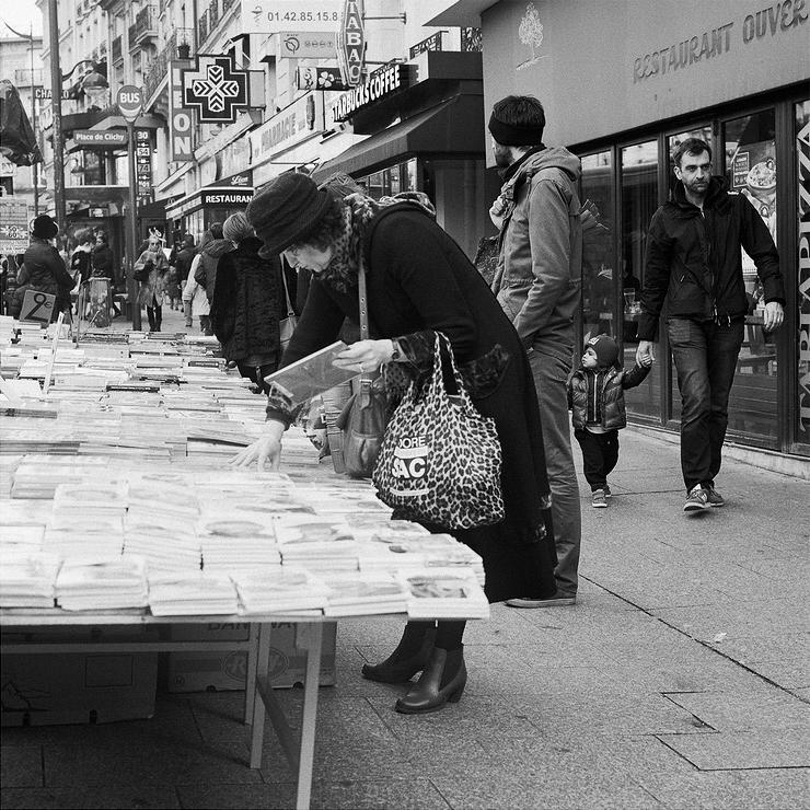 L'étale de livres