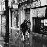 En vélo sous pluie