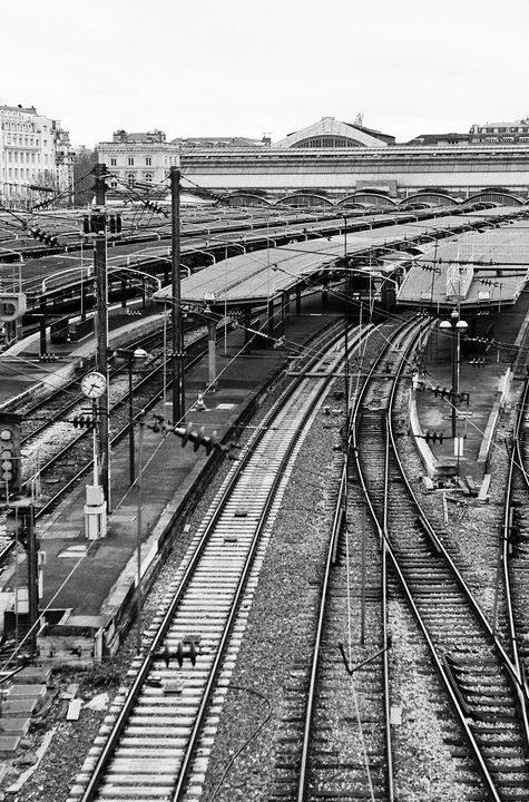 Gare de l'est en hiver