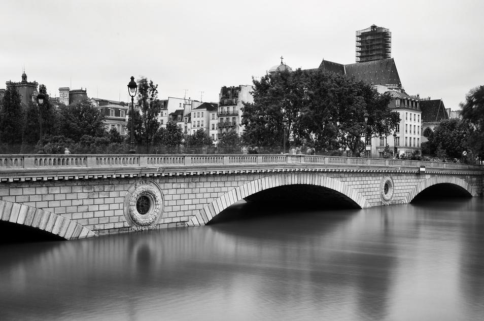 Pont Louis-Philippe durant la crue