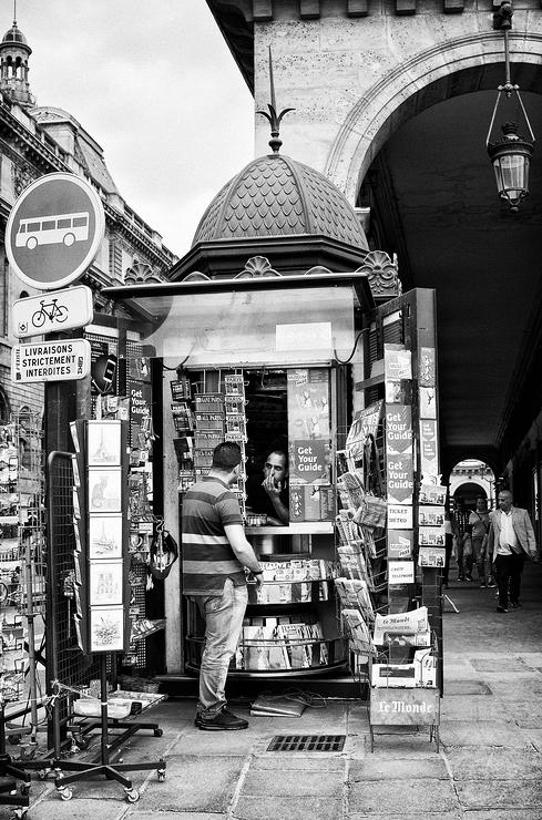 Le kiosque de la place du Palais Royal