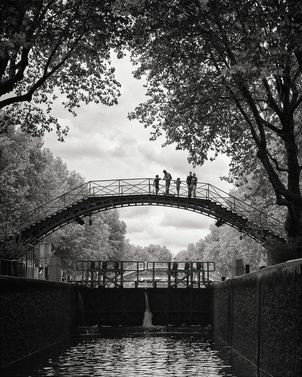 En famille sur le canal