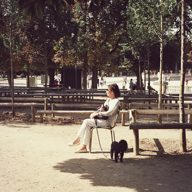 Ludivine et son chien pépin
