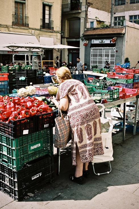 Sous le soleil au marché