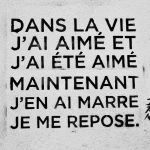 Dans la vie…