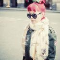 Les cheveux rouge