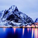 L'heure bleue à Reine / Lofoten / Norvège