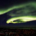 La double spirale / Aurore boréale / Flakstad / Lofoten / Norvège