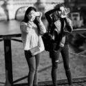Double autoportrait sur le pont des Arts