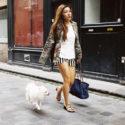 Maève Mial et son chien Polka