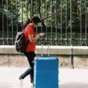 La valise bleu