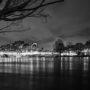 Le Pont-Neuf la nuit durant la crue
