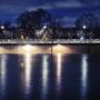 Quai des Tuileries à la nuit tombante