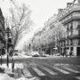 Boulevard Saint-Germain sous la neige