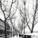 Bouquiniste sous la neige