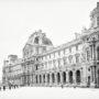 Le Louvre sous la neige / Aile Richelieu